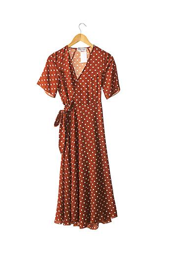 Robe longue orange BETTY LONDON pour femme