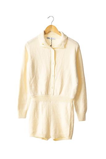 Combishort beige ZARA pour femme