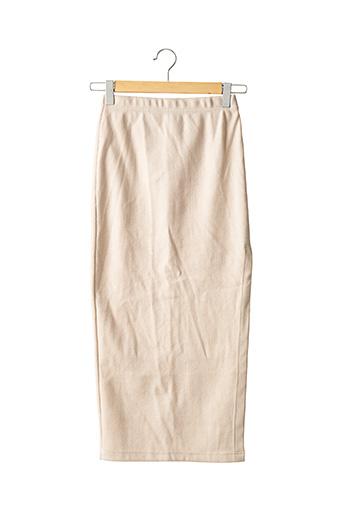 Jupe longue beige L'ACADEMIE pour femme