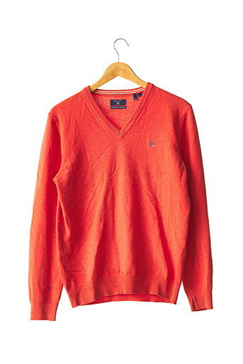 Pull col V orange GANT pour homme