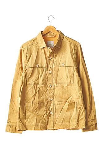 Chemise manches longues jaune MANGO pour homme