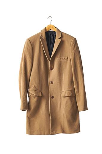 Manteau long beige BRUNO SAINT HILAIRE pour homme
