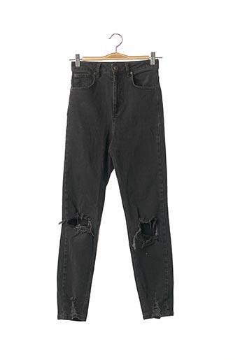 Jeans coupe slim noir ASOS pour femme