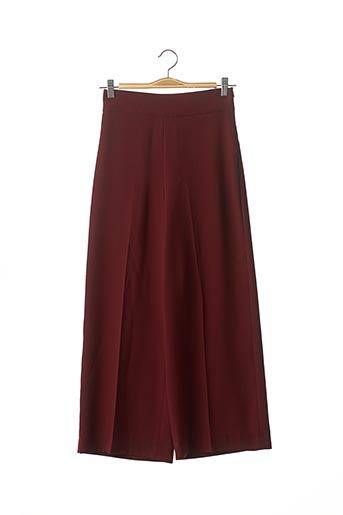 Pantalon 7/8 rouge ZARA pour femme