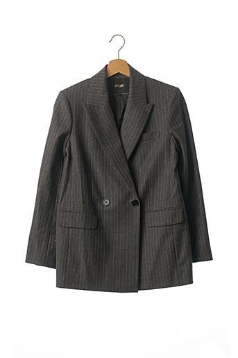 Veste chic / Blazer gris MAJE pour femme