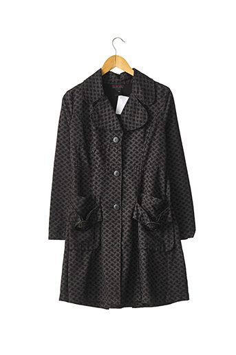 Manteau long noir CUSTO pour femme