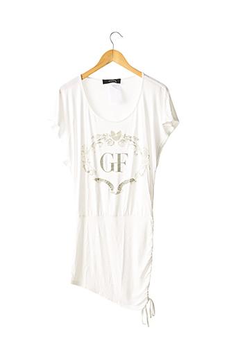 Robe mi-longue blanc FERRE pour femme