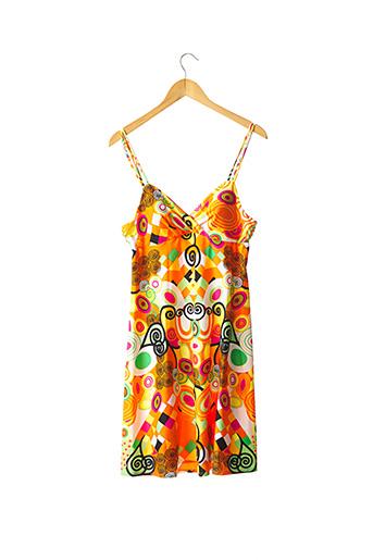 Robe mi-longue orange FERAUD pour femme