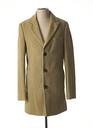 Manteau long vert DSTREZZED pour homme