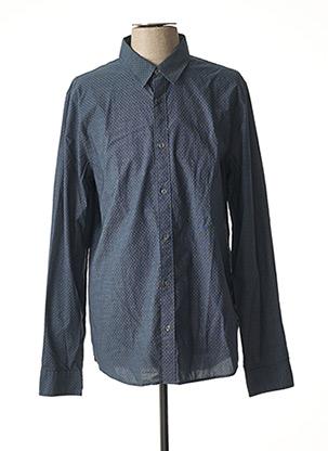 Chemise manches longues bleu CALVIN KLEIN pour homme
