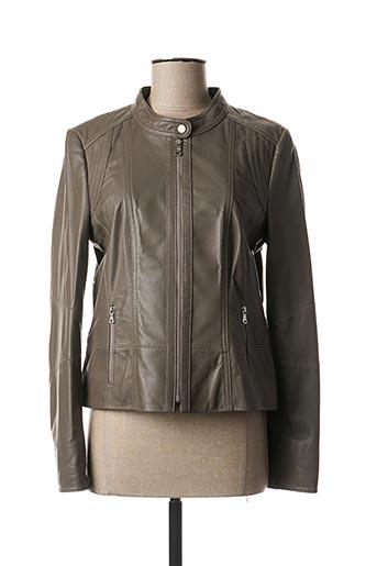Veste en cuir gris GERRY WEBER pour femme