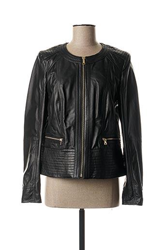 Veste en cuir noir GERRY WEBER pour femme
