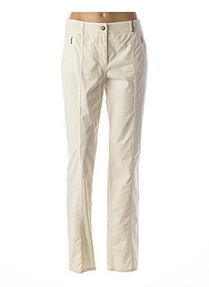 Pantalon casual beige GERRY WEBER pour femme