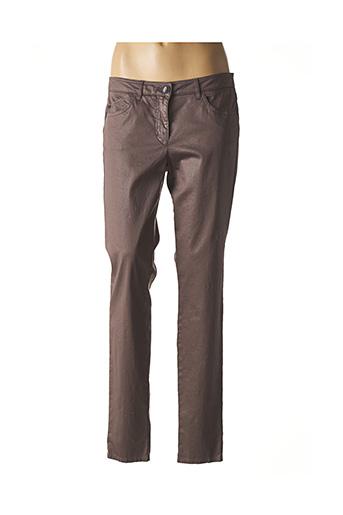 Pantalon casual violet LUISA CERANO pour femme