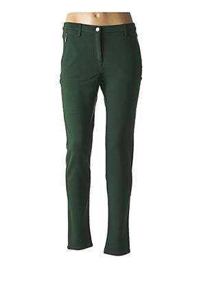 Pantalon casual vert BRANDTEX pour femme