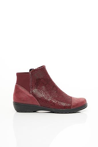 Bottines/Boots rouge SUAVE pour femme