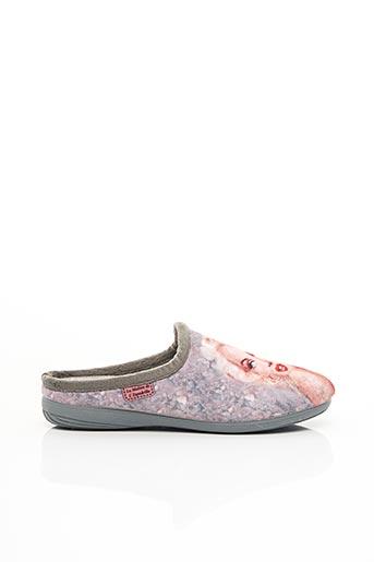 Chaussons/Pantoufles gris LA MAISON DE L'ESPADRILLE pour femme