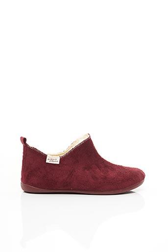 Chaussons/Pantoufles rouge LA MAISON DE L'ESPADRILLE pour femme