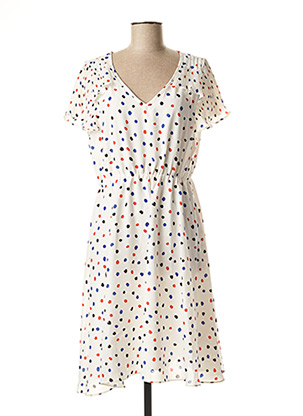 Robe mi-longue blanc MOLLY BRACKEN pour femme