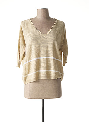Pull col V beige HUMILITY pour femme