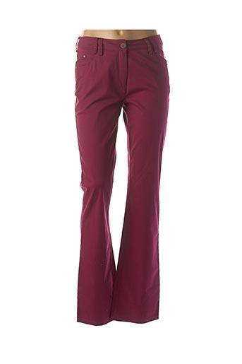 Pantalon casual violet JAC JAC pour femme