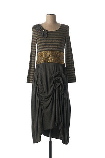 Robe mi-longue gris BLEU BLANC ROUGE pour femme