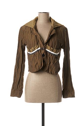 Veste casual vert BLEU BLANC ROUGE pour femme