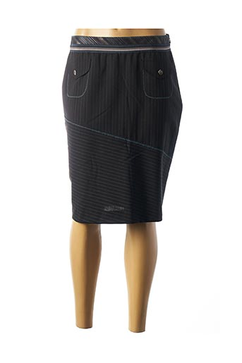 Jupe mi-longue noir BLEU BLANC ROUGE pour femme