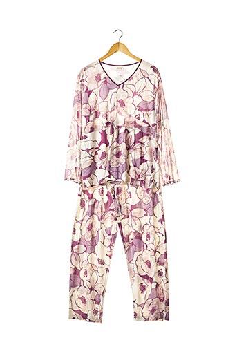 Pyjama violet EGATEX pour femme