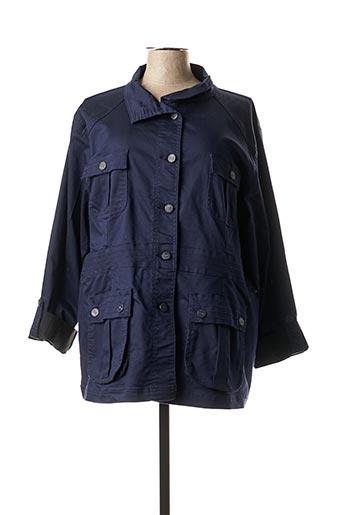 Veste casual bleu QUATRE VINGT JOURS pour femme