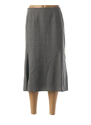 Jupe mi-longue gris FRANCOISE DE FRANCE pour femme