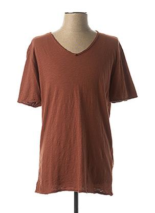 T-shirt manches courtes marron IMPERIAL pour homme
