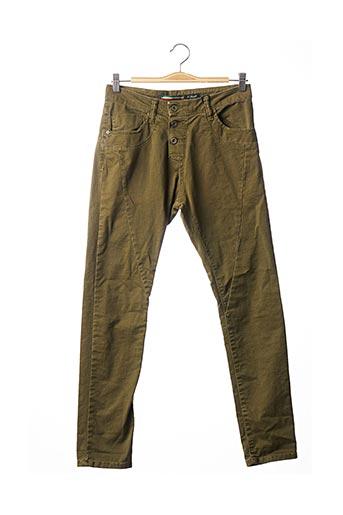 Jeans coupe slim vert PLEASE pour femme
