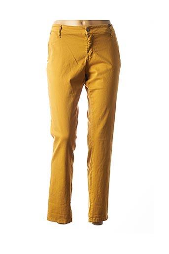 Pantalon casual jaune PLEASE pour femme