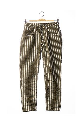 Pantalon casual vert PLEASE pour femme