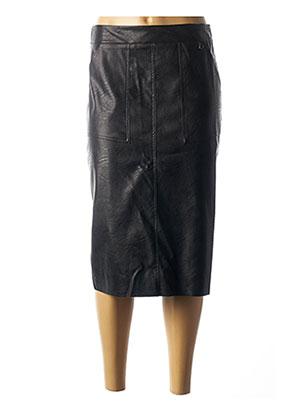 Jupe mi-longue noir DIXIE pour femme