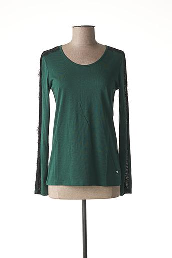 Pull col rond vert KATMAI pour femme