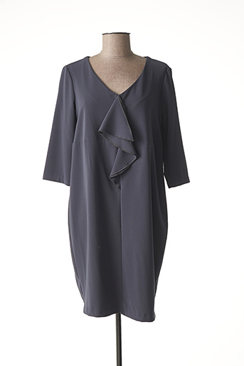 Robe mi-longue gris B.YU pour femme
