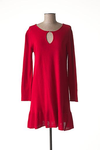 Robe mi-longue rouge B.YU pour femme