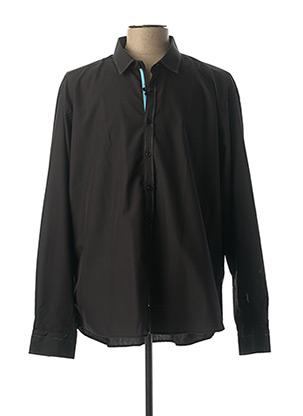 Chemise manches longues noir ENZO DI MILANO pour homme