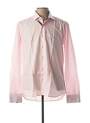 Chemise manches longues rose ENZO DI MILANO pour homme