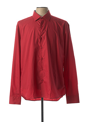 Chemise manches longues rouge ENZO DI MILANO pour homme