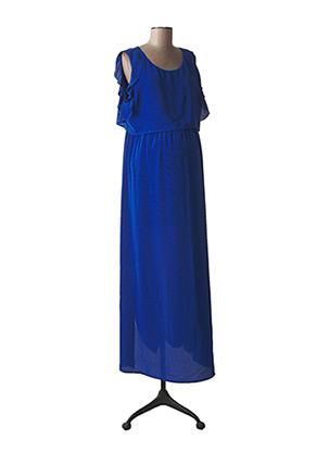 Robe longue bleu ATTESA pour femme