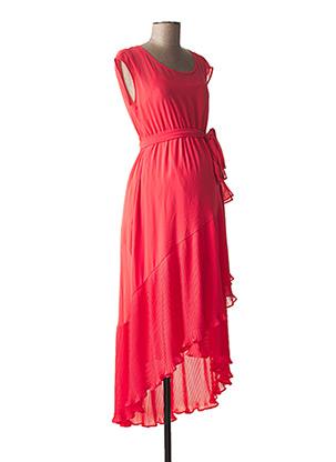 Robe longue rose ATTESA pour femme