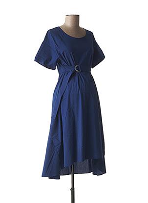 Robe mi-longue bleu ATTESA pour femme
