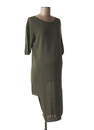 Robe pull vert MENONOVE pour femme