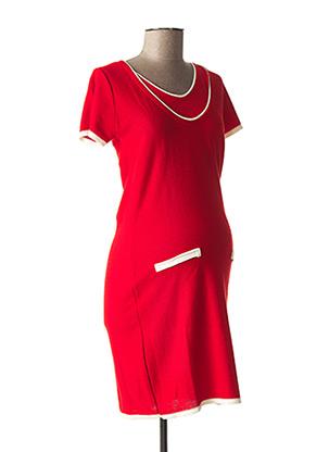 Robe pull rouge POMKIN pour femme