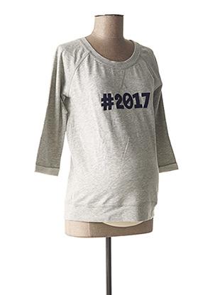 Sweat-shirt gris QUEEN MUM pour femme