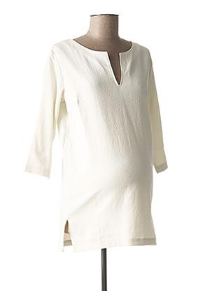 Tunique manches longues blanc FRAGILE pour femme