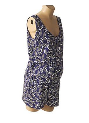 Combishort bleu POMKIN pour femme